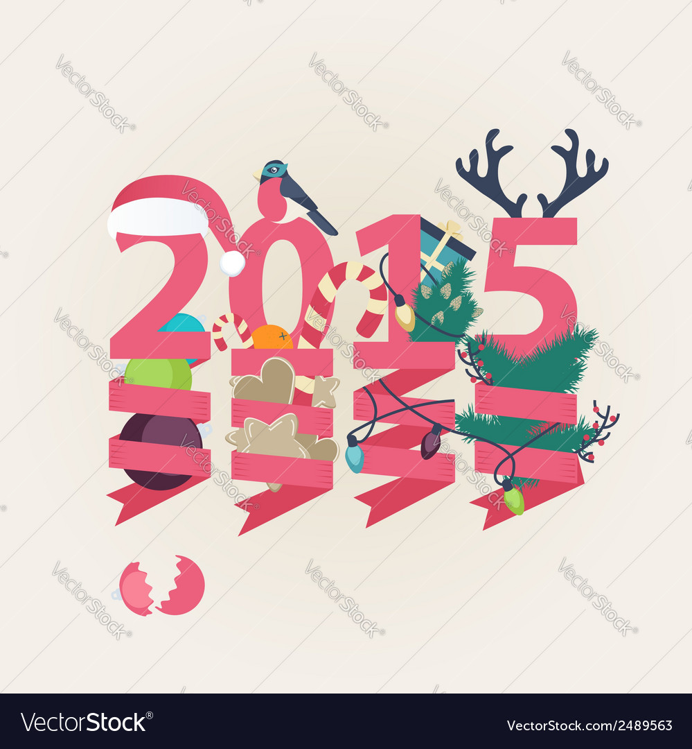 2015 new year card design vector | Price: 1 Credit (USD $1)