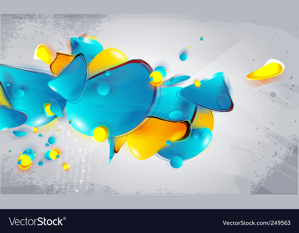 Abstract form bubbles in the style of graffiti vector | Price: 1 Credit (USD $1)