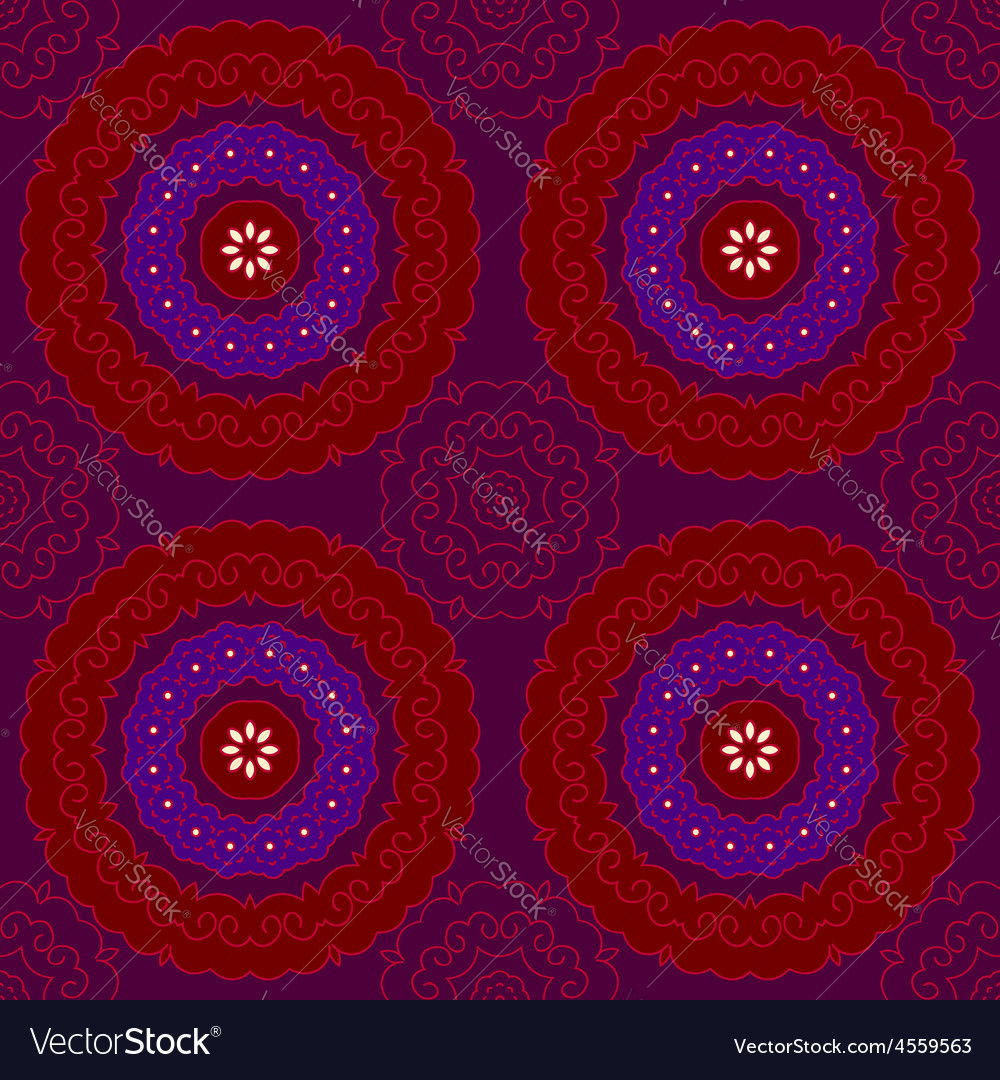 Circle pattern indian red vector | Price: 1 Credit (USD $1)