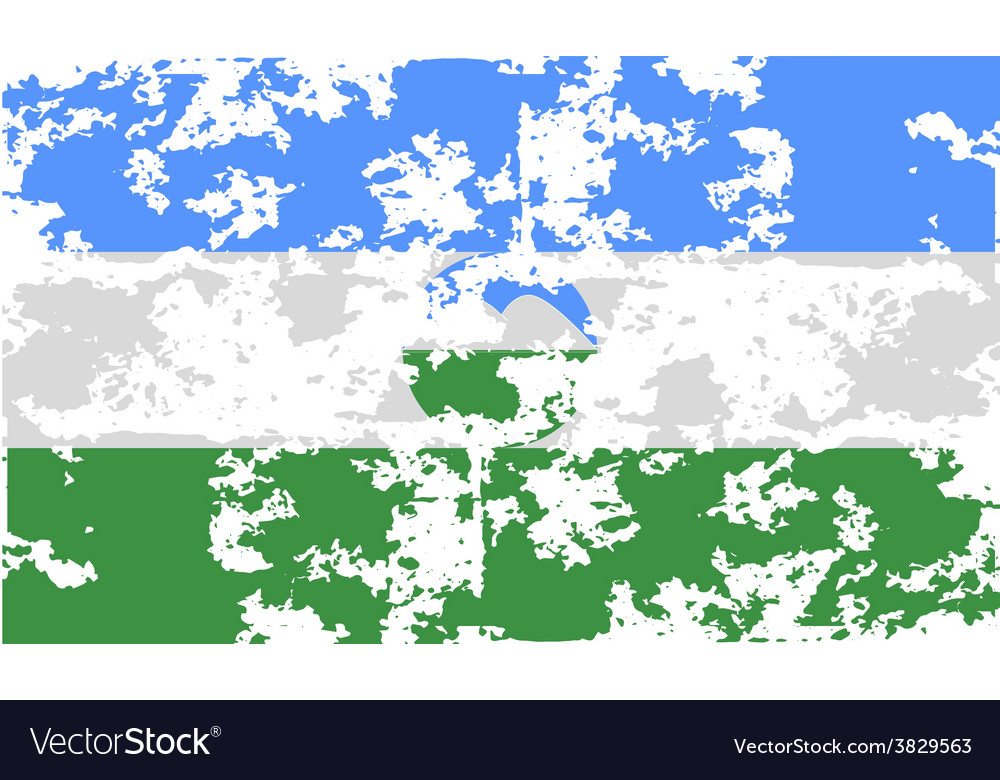 Flag of kabardino-balkaria with old texture vector | Price: 1 Credit (USD $1)