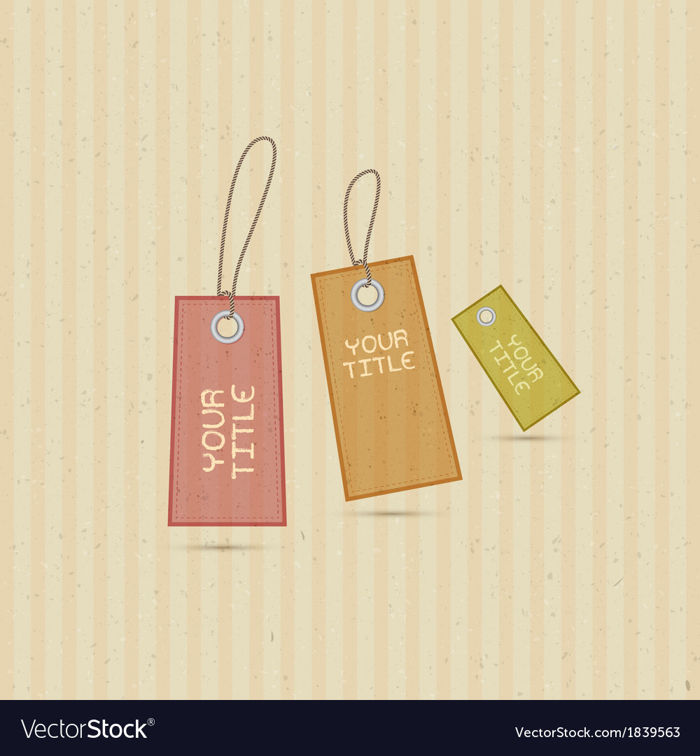 Labels tags on recycled paper background vector | Price: 1 Credit (USD $1)