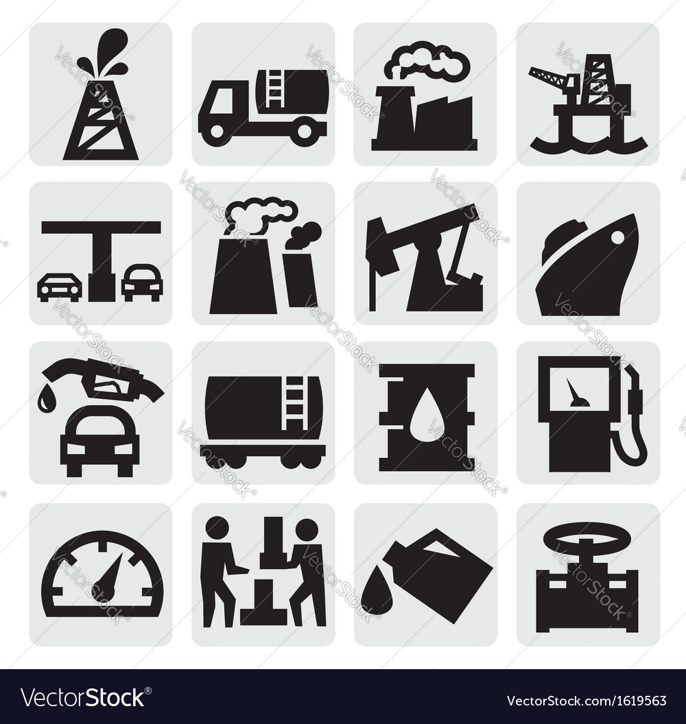 Oil icons vector | Price: 1 Credit (USD $1)