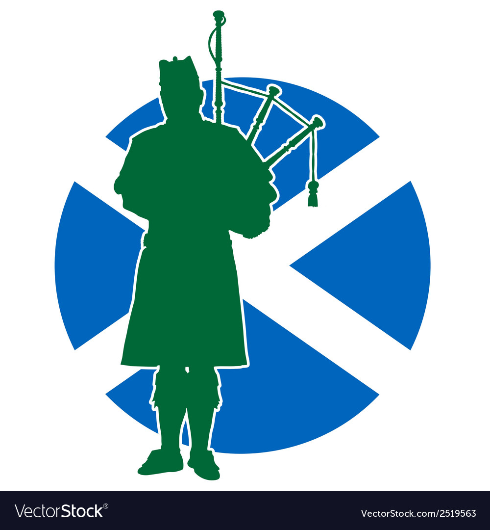 Scottish piper flag vector | Price: 1 Credit (USD $1)