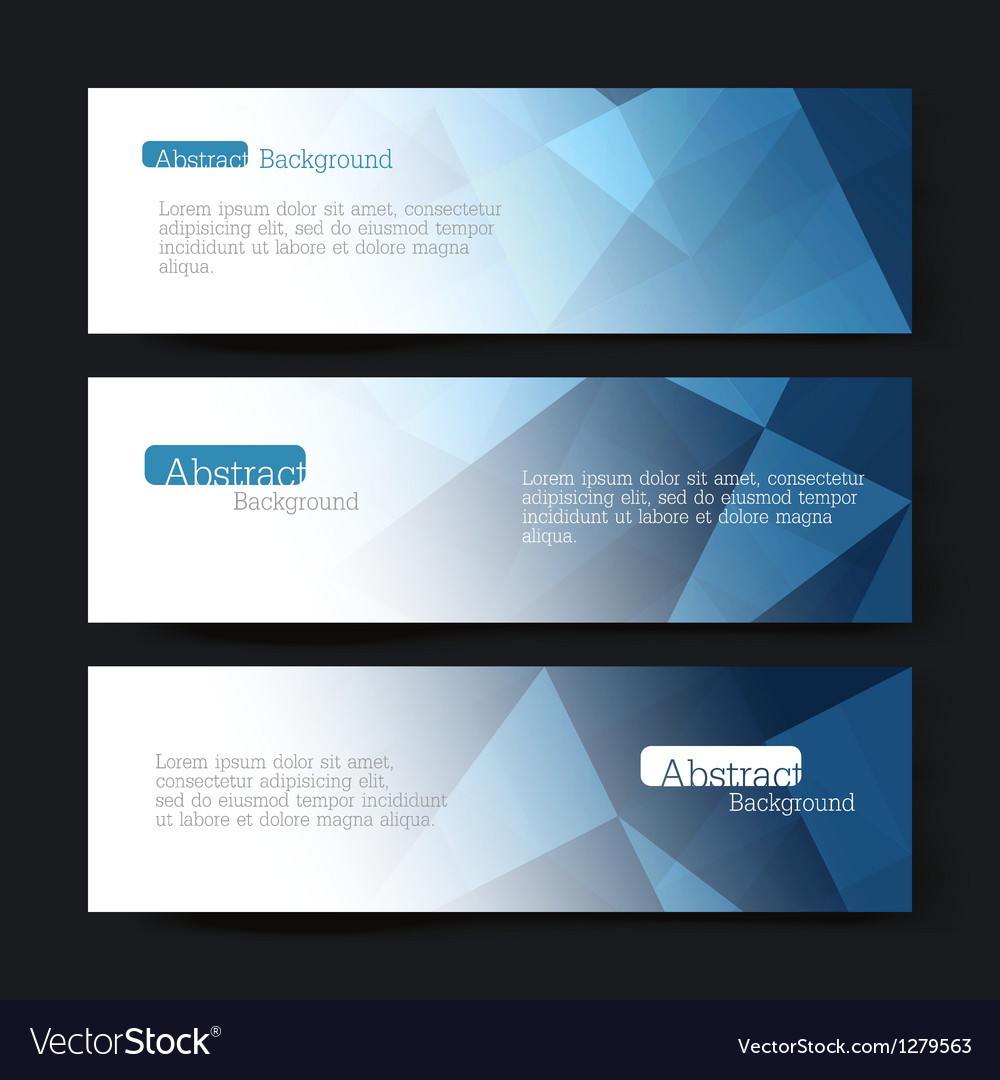 Set of three banners vector | Price: 1 Credit (USD $1)