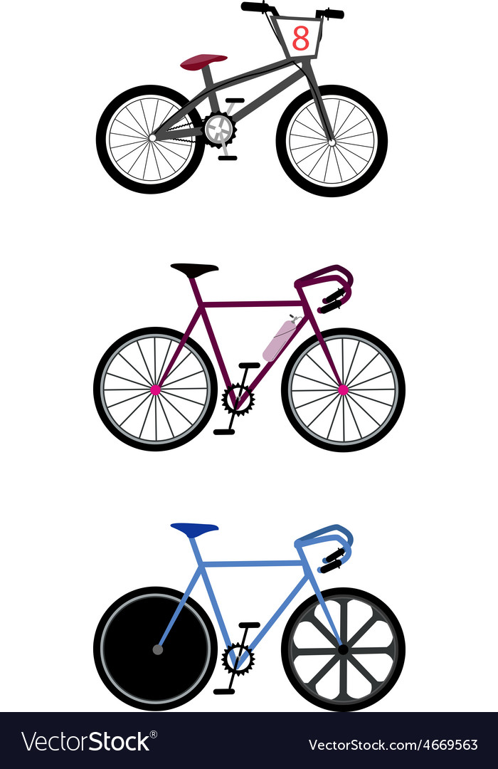 Set of track cycling equipment on white background vector | Price: 1 Credit (USD $1)