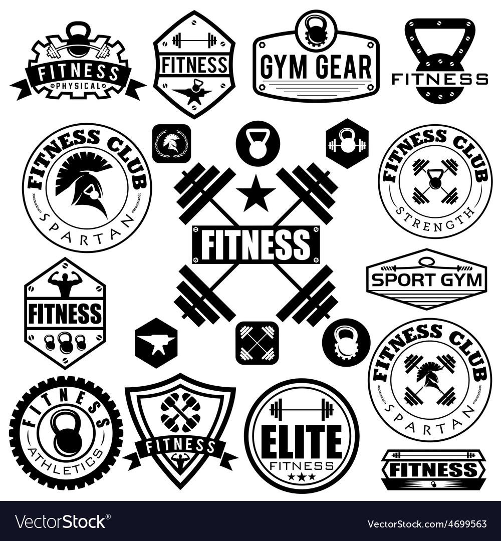 Set of various sports and fitness icons and design vector | Price: 1 Credit (USD $1)