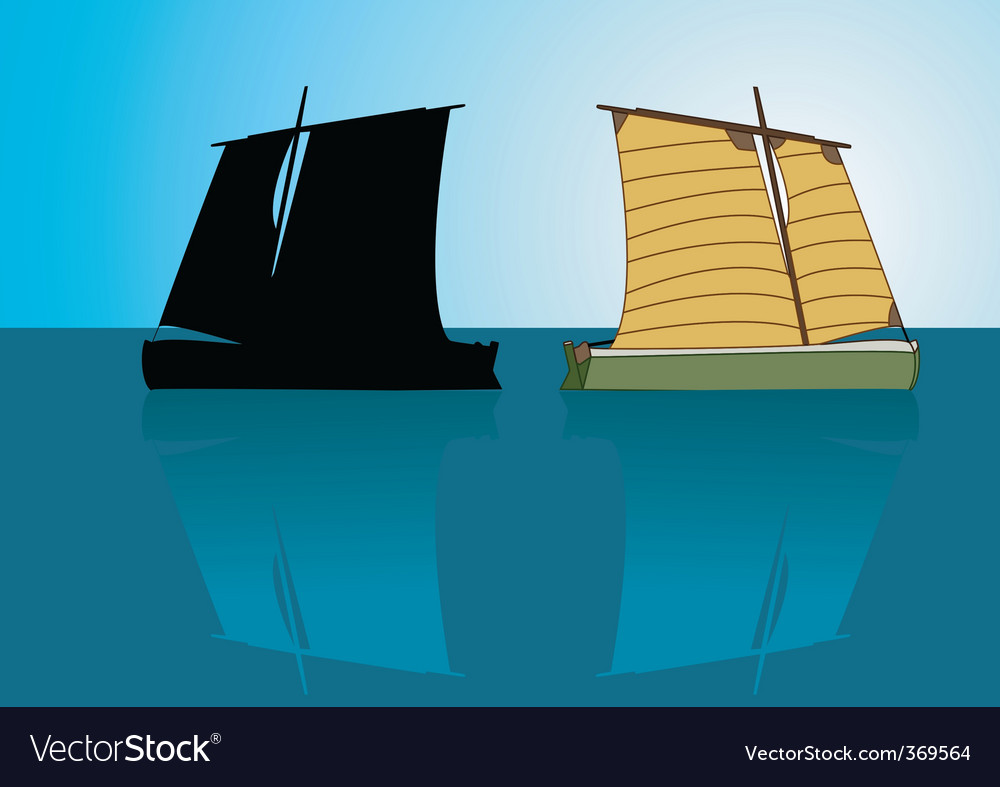 Asian boat vector | Price: 1 Credit (USD $1)