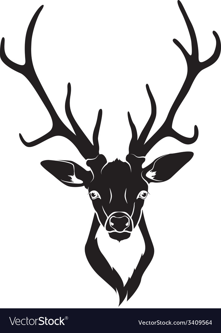 Deer head isolated vector | Price: 1 Credit (USD $1)