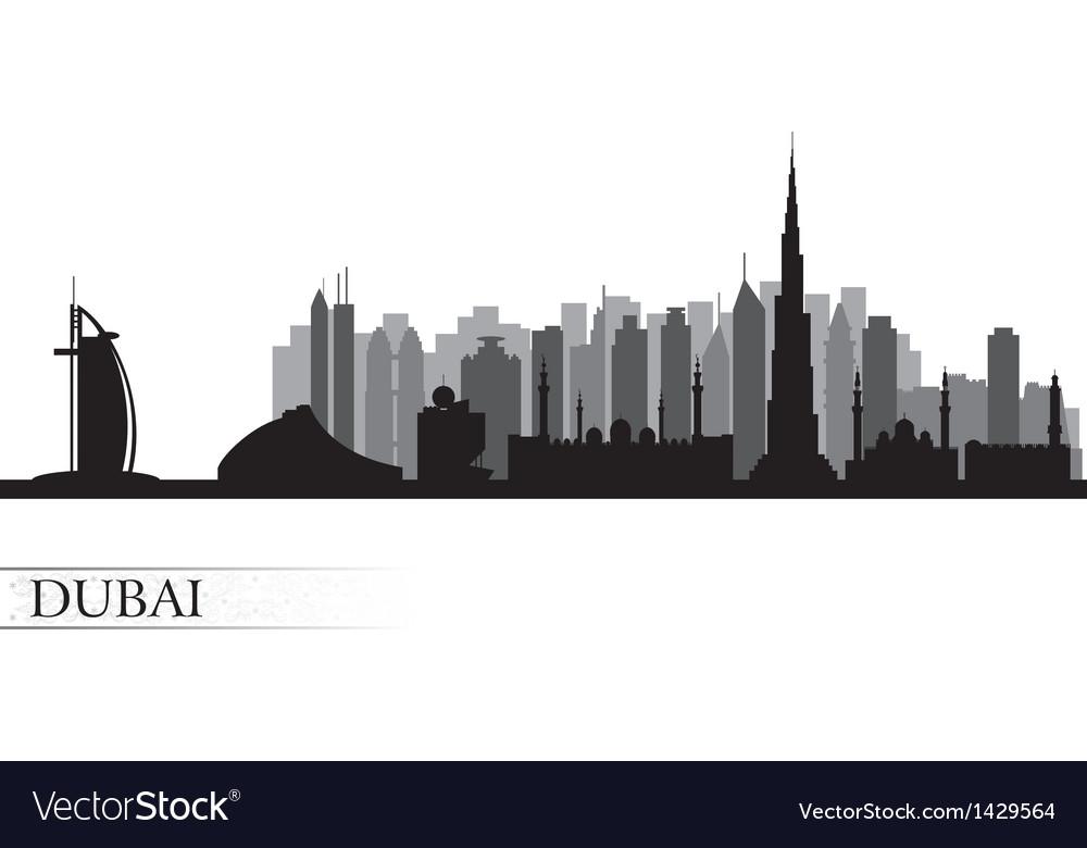 Dubai city skyline detailed silhouette vector | Price: 1 Credit (USD $1)