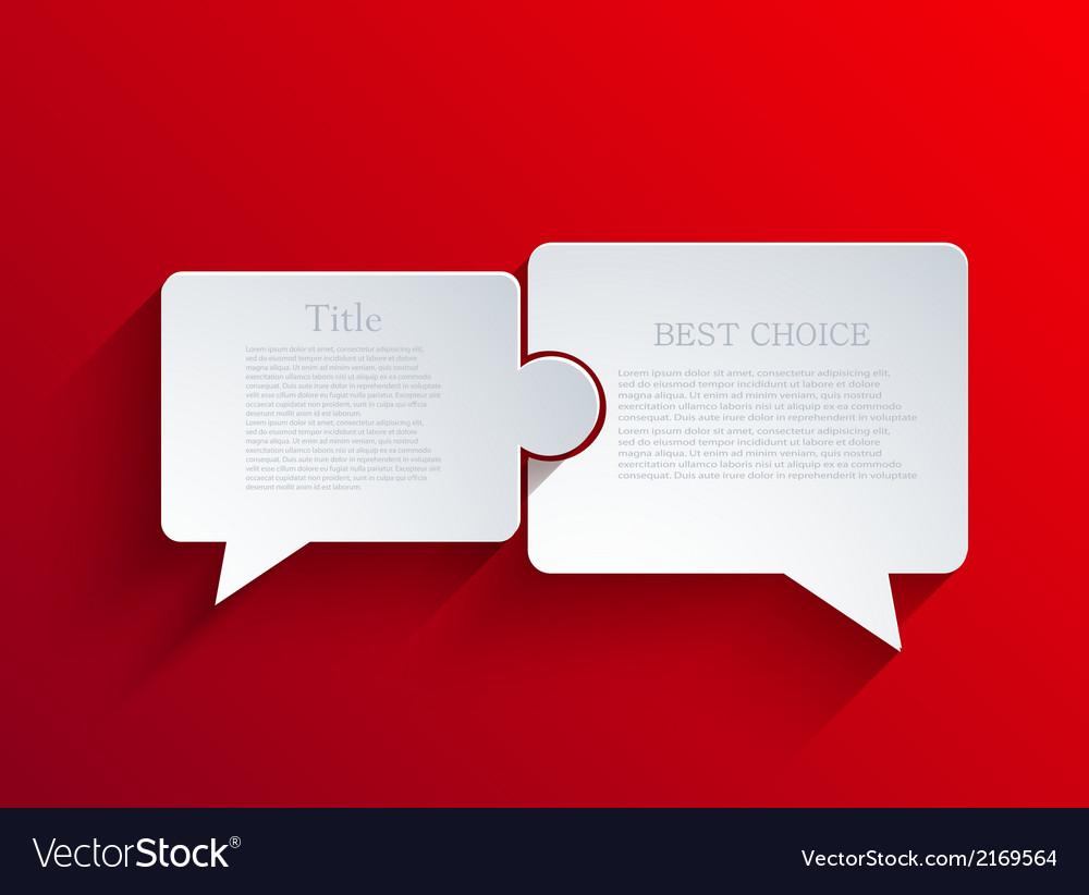 Flat bubble speech background vector | Price: 1 Credit (USD $1)