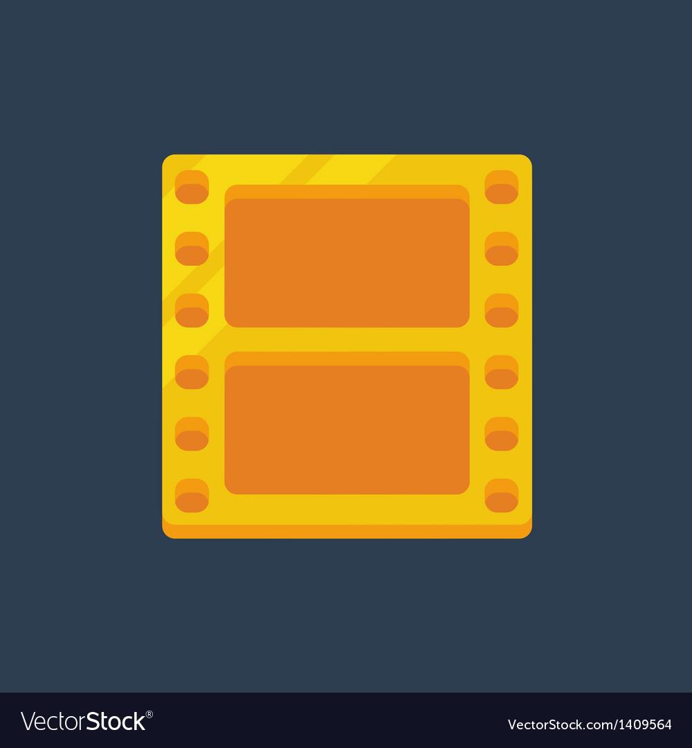 Flat golden film icon vector | Price: 1 Credit (USD $1)