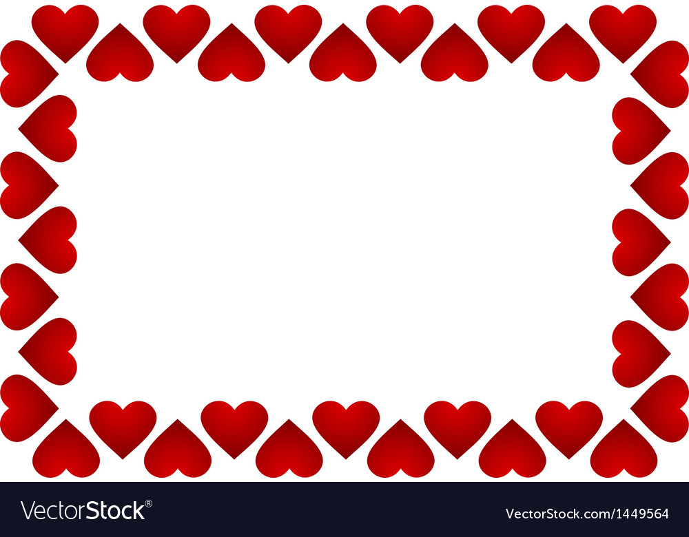 Frame of hearts vector | Price: 1 Credit (USD $1)