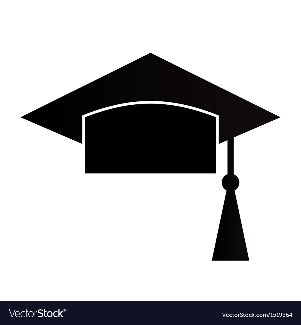 Mortar board or graduation cap vector | Price: 1 Credit (USD $1)
