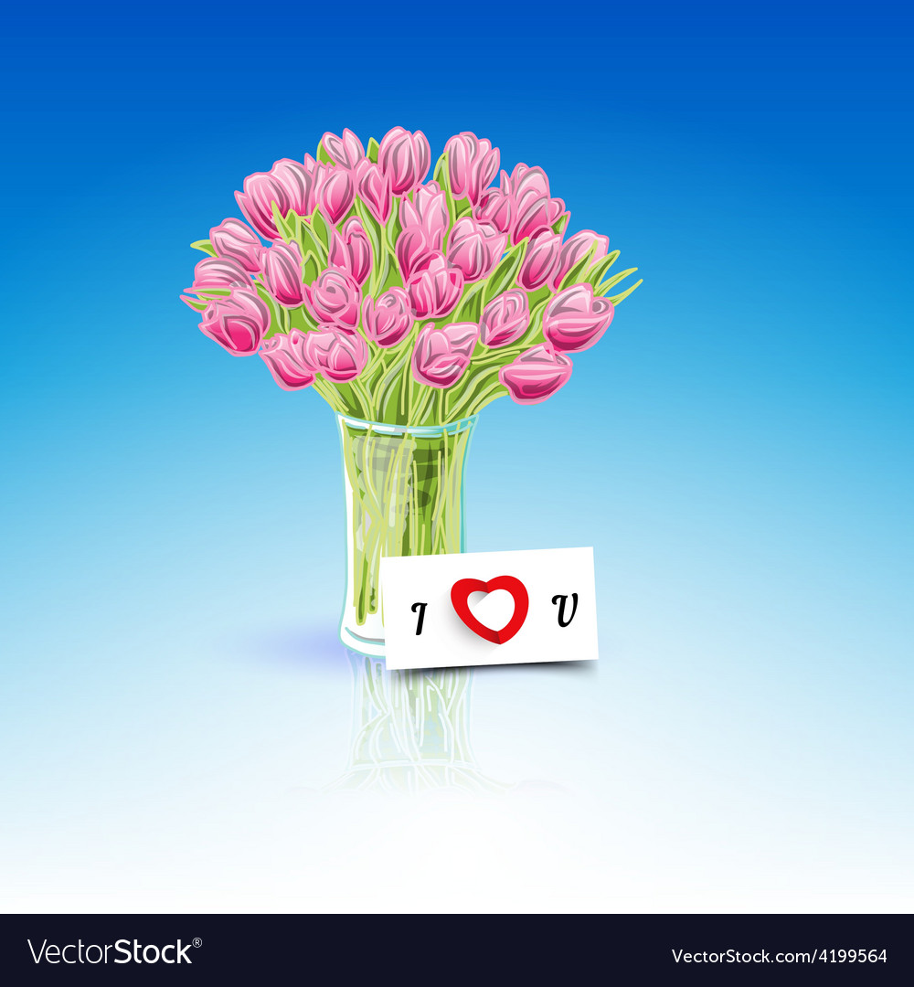 Present flowers vector | Price: 1 Credit (USD $1)
