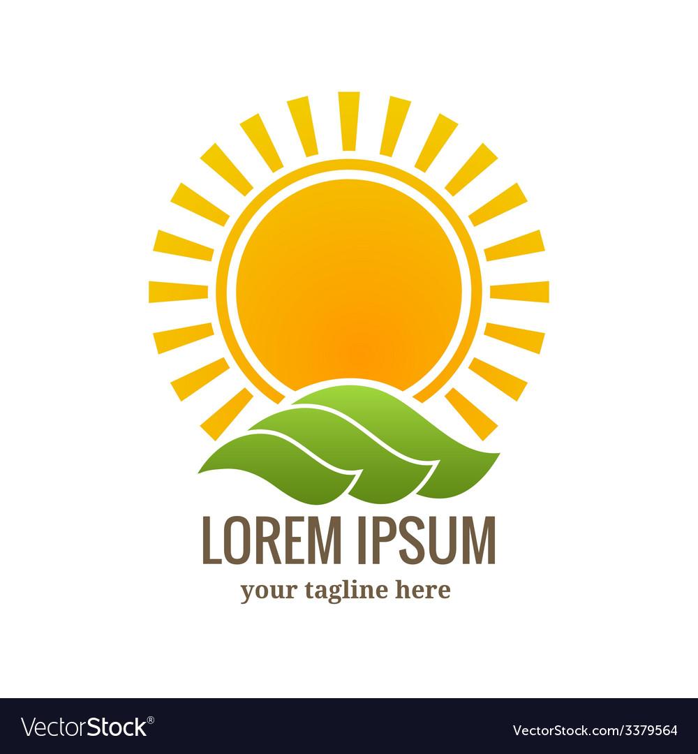Sunset logo or emblem vector | Price: 1 Credit (USD $1)