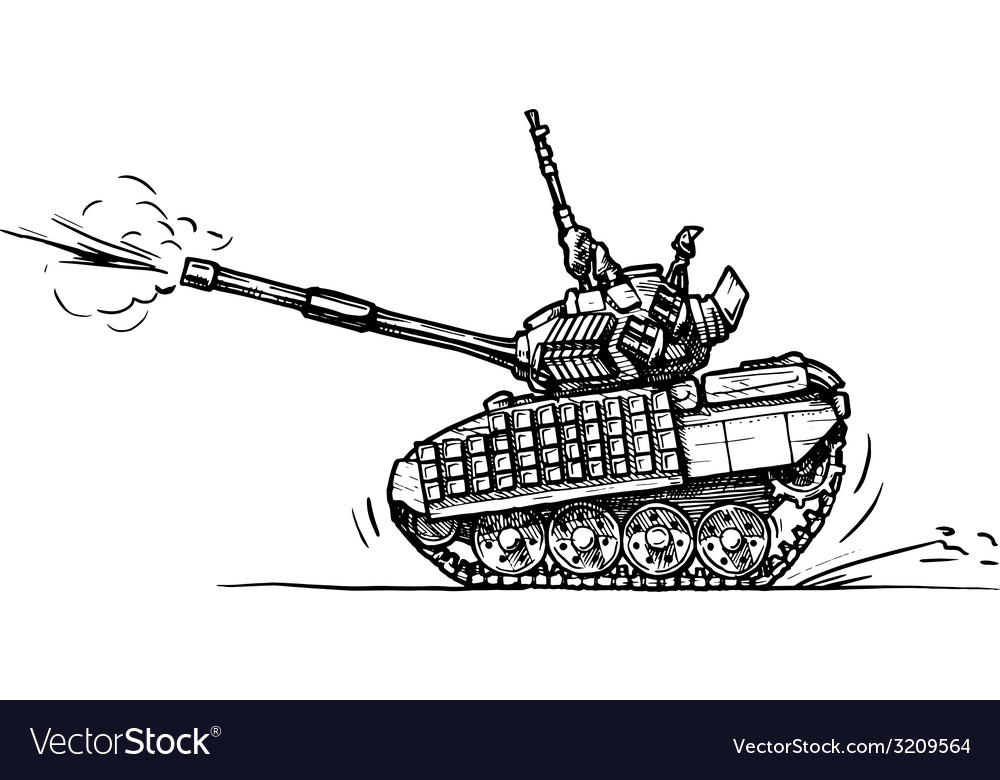 Tank in comics style vector | Price: 1 Credit (USD $1)