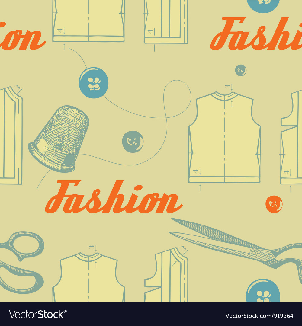 Vintage fashion clothing pattern vector | Price: 1 Credit (USD $1)