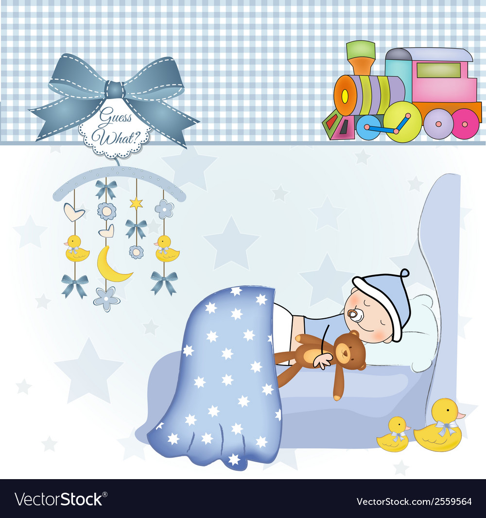 Welcome new baby boy vector   Price: 1 Credit (USD $1)