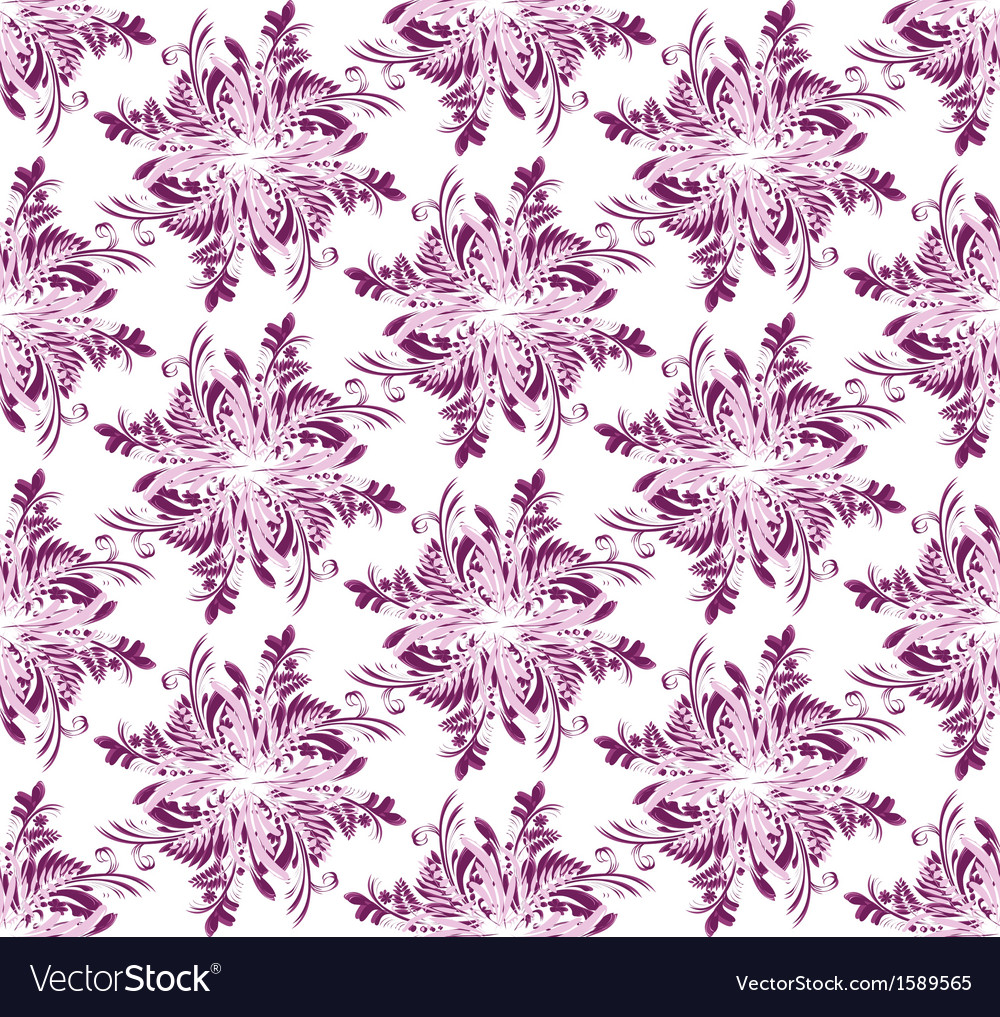 Abstract seamless floral scroll patterns rhombus vector | Price: 1 Credit (USD $1)
