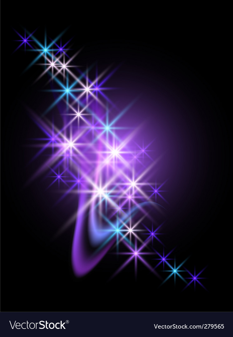 Abstract starlight design vector | Price: 1 Credit (USD $1)