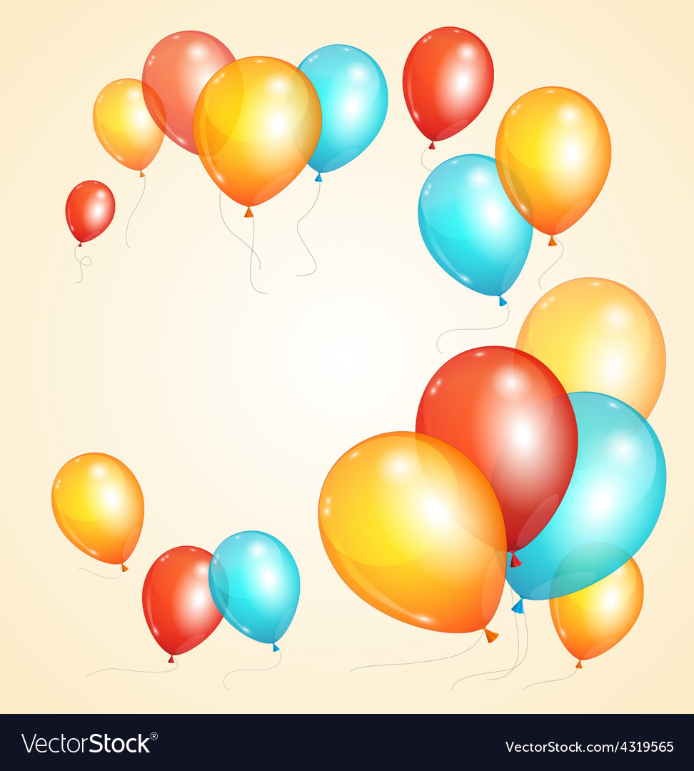 Ballon card vector | Price: 1 Credit (USD $1)