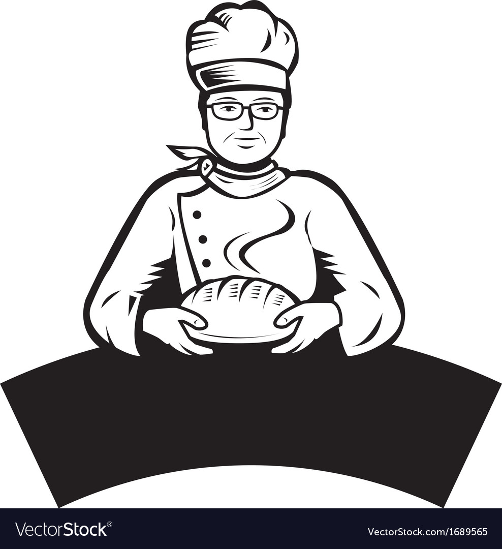 Cartoon baker vector | Price: 1 Credit (USD $1)