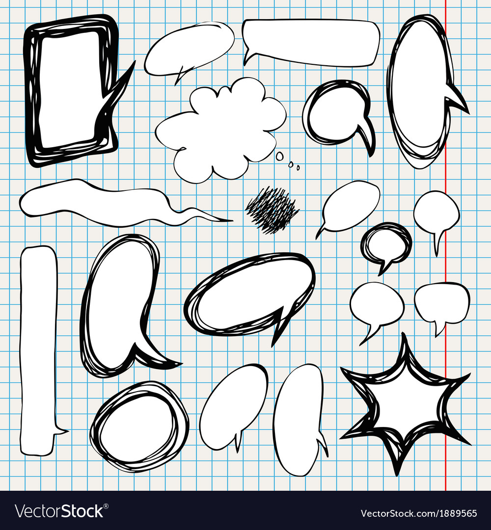 Collection of comic style speech bubbles vector   Price: 1 Credit (USD $1)