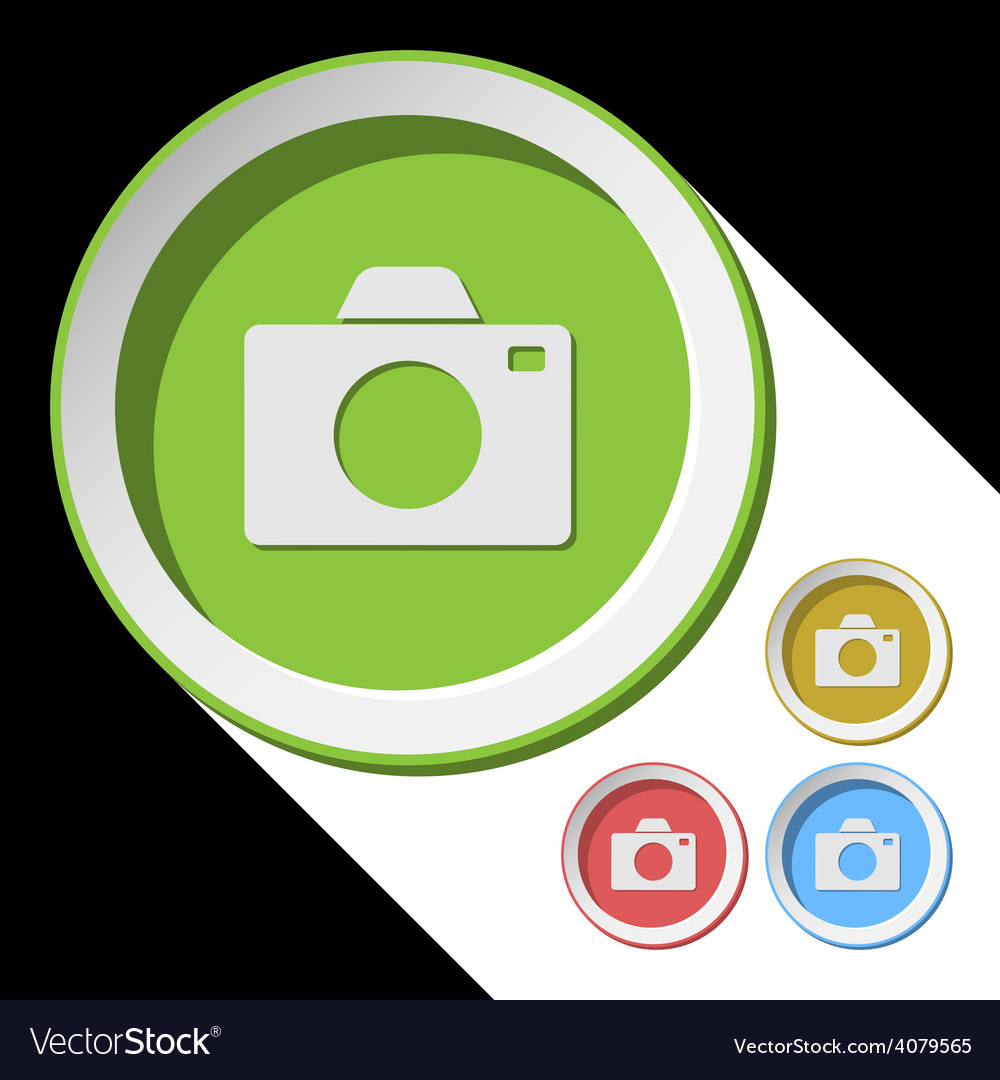 Color icons with camera vector | Price: 1 Credit (USD $1)