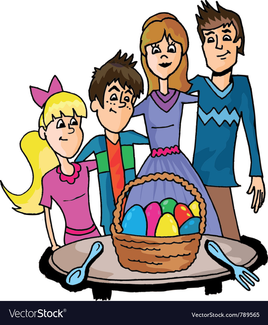 Easter family vector | Price: 1 Credit (USD $1)