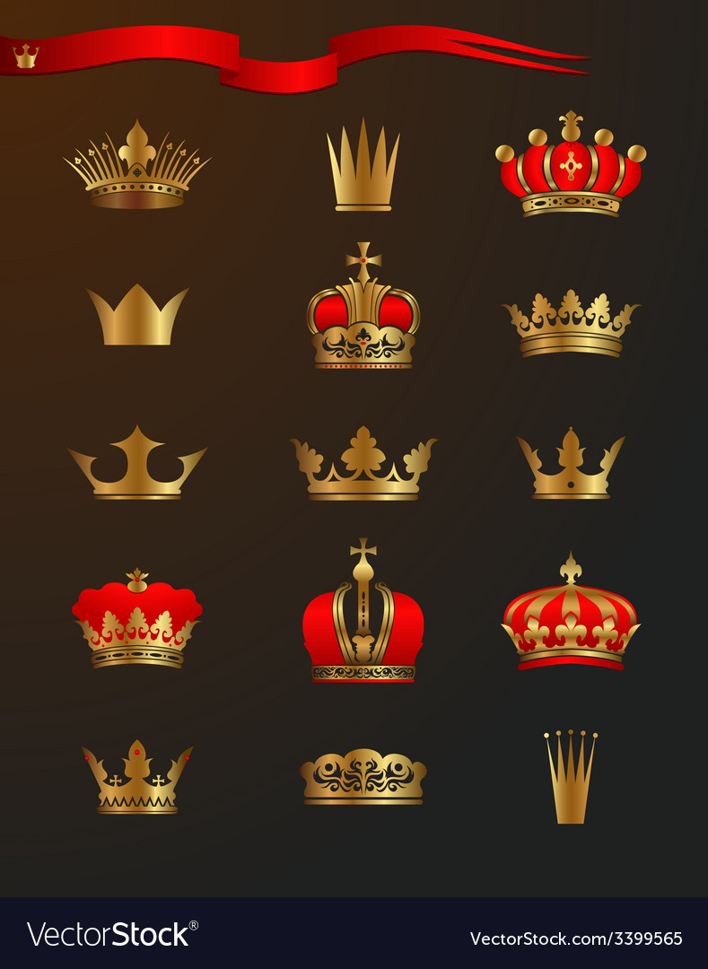 Golden crowns vector | Price: 3 Credit (USD $3)
