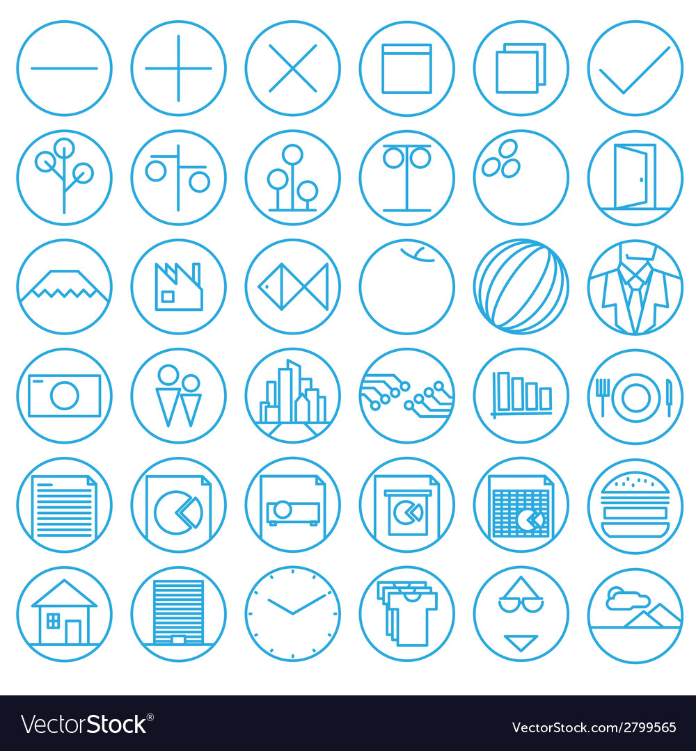 Icons with flat and wire style vector | Price: 1 Credit (USD $1)