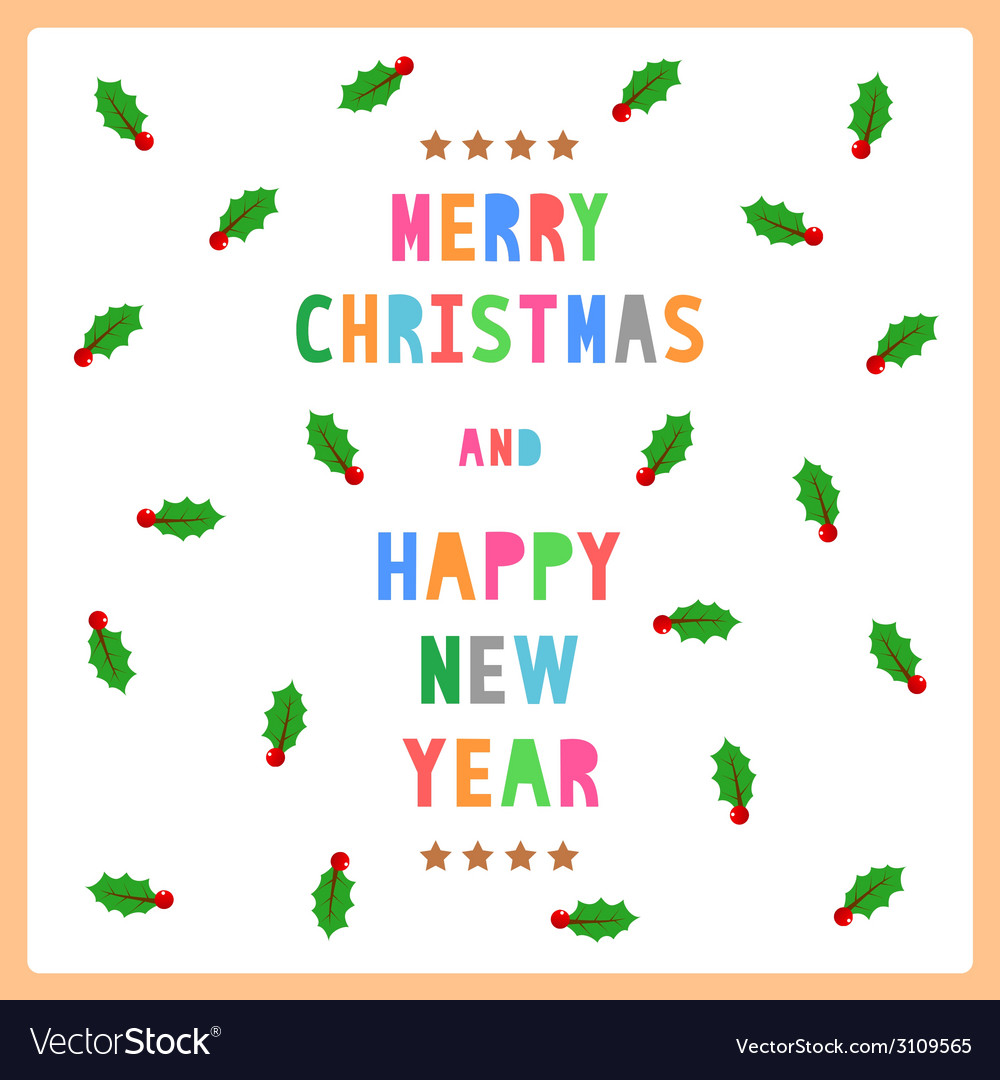 Mc and hny greeting card12 vector | Price: 1 Credit (USD $1)