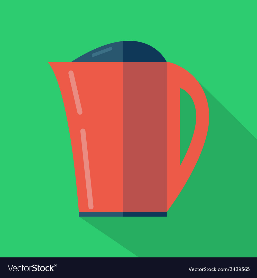 Modern flat design concept icon kettle tea and vector | Price: 1 Credit (USD $1)