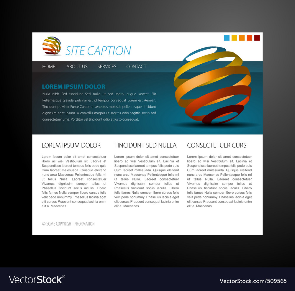 Modern website template vector | Price: 1 Credit (USD $1)