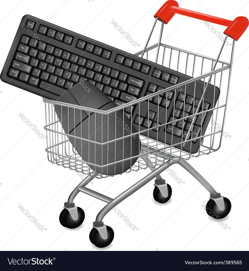 Shopping cart mouse vector | Price: 1 Credit (USD $1)