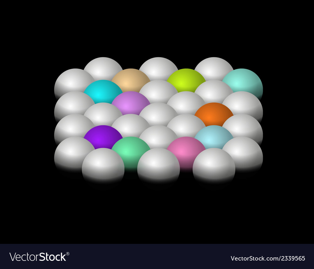 Silver and color halfspheres vector