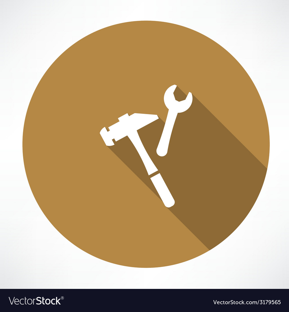 Wrench and hammer vector | Price: 1 Credit (USD $1)