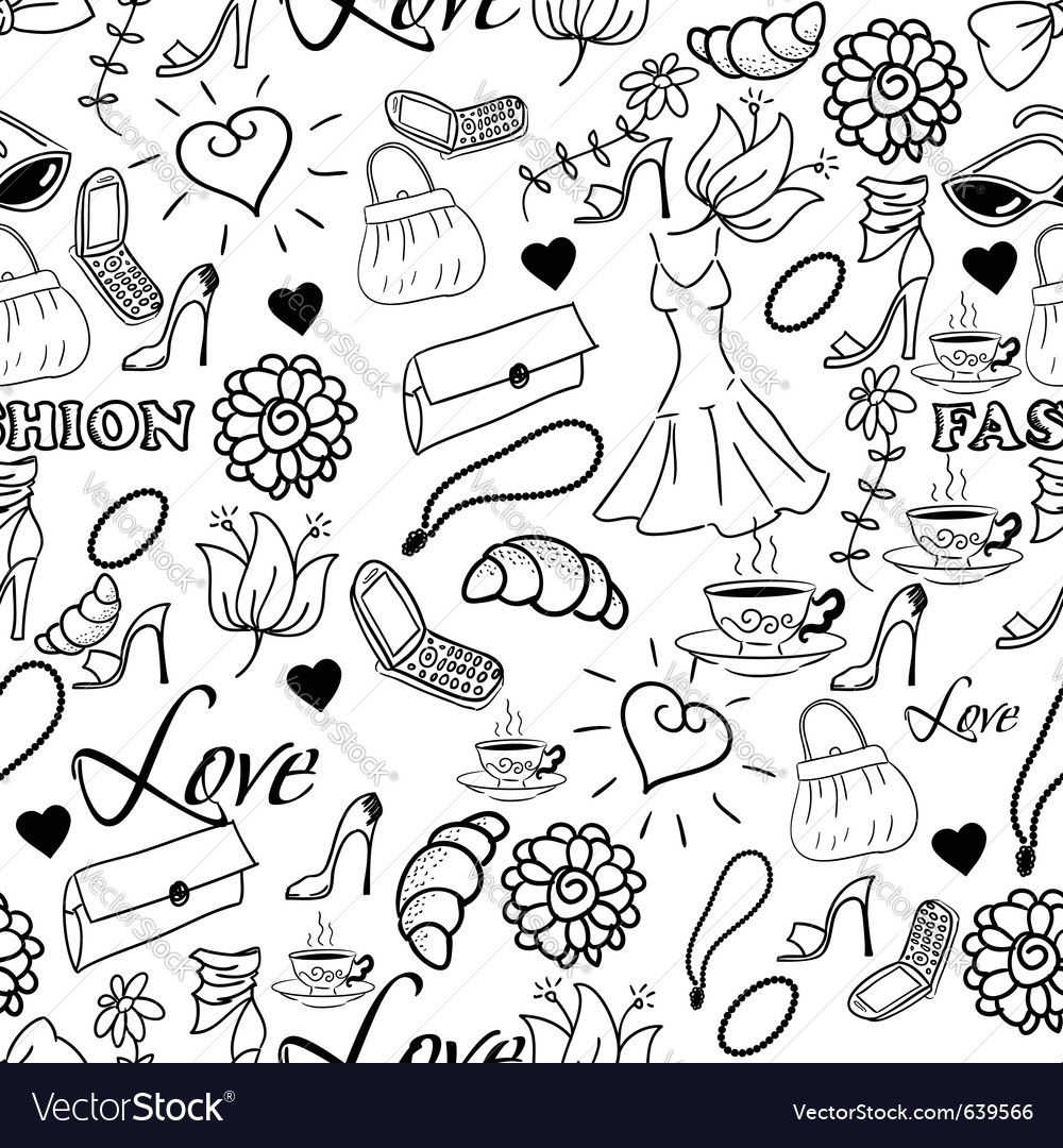 Abstract fashion background vector | Price: 1 Credit (USD $1)