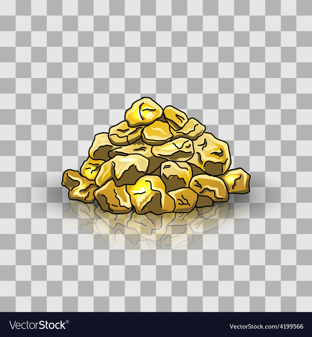 Golden nuggets pile vector | Price: 1 Credit (USD $1)
