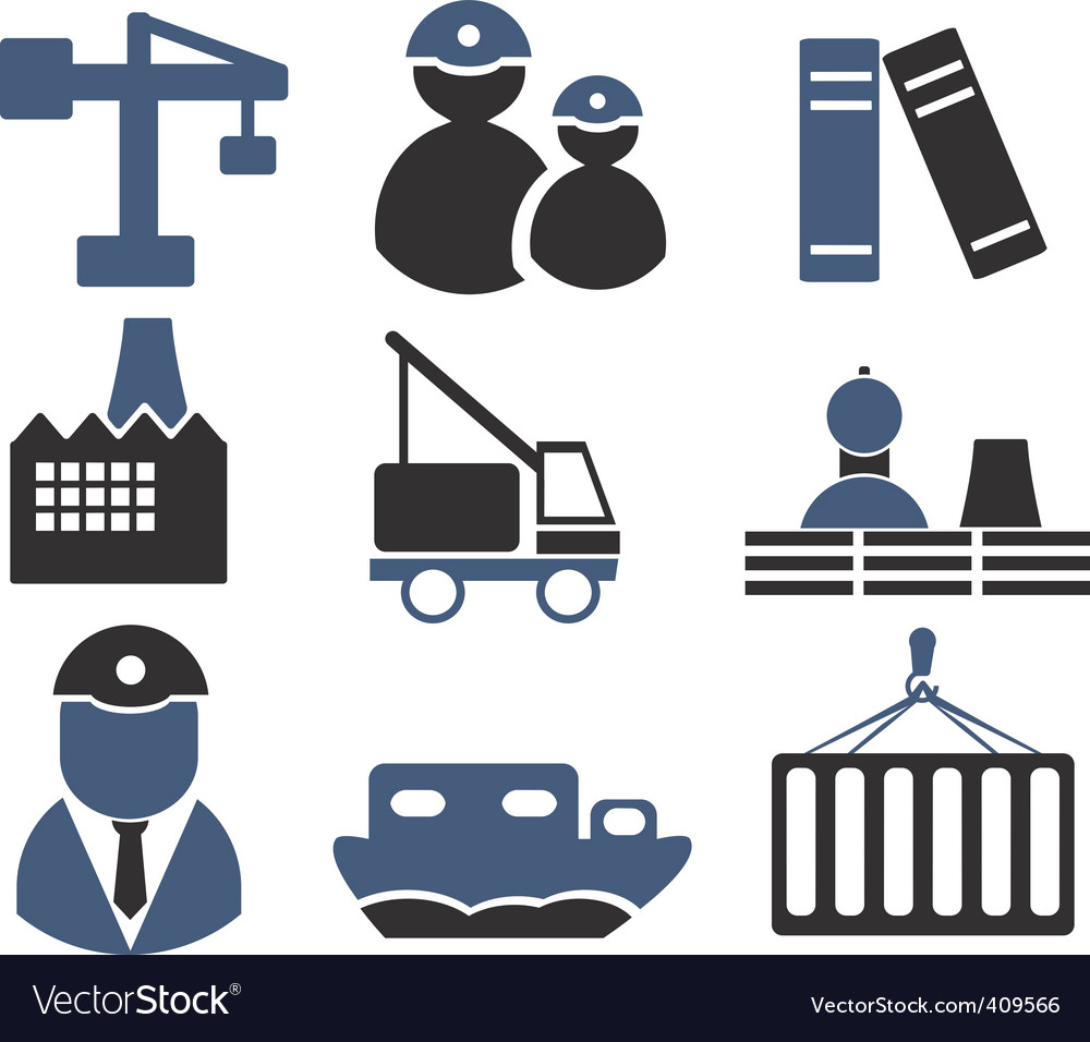 Industry signs vector | Price: 1 Credit (USD $1)