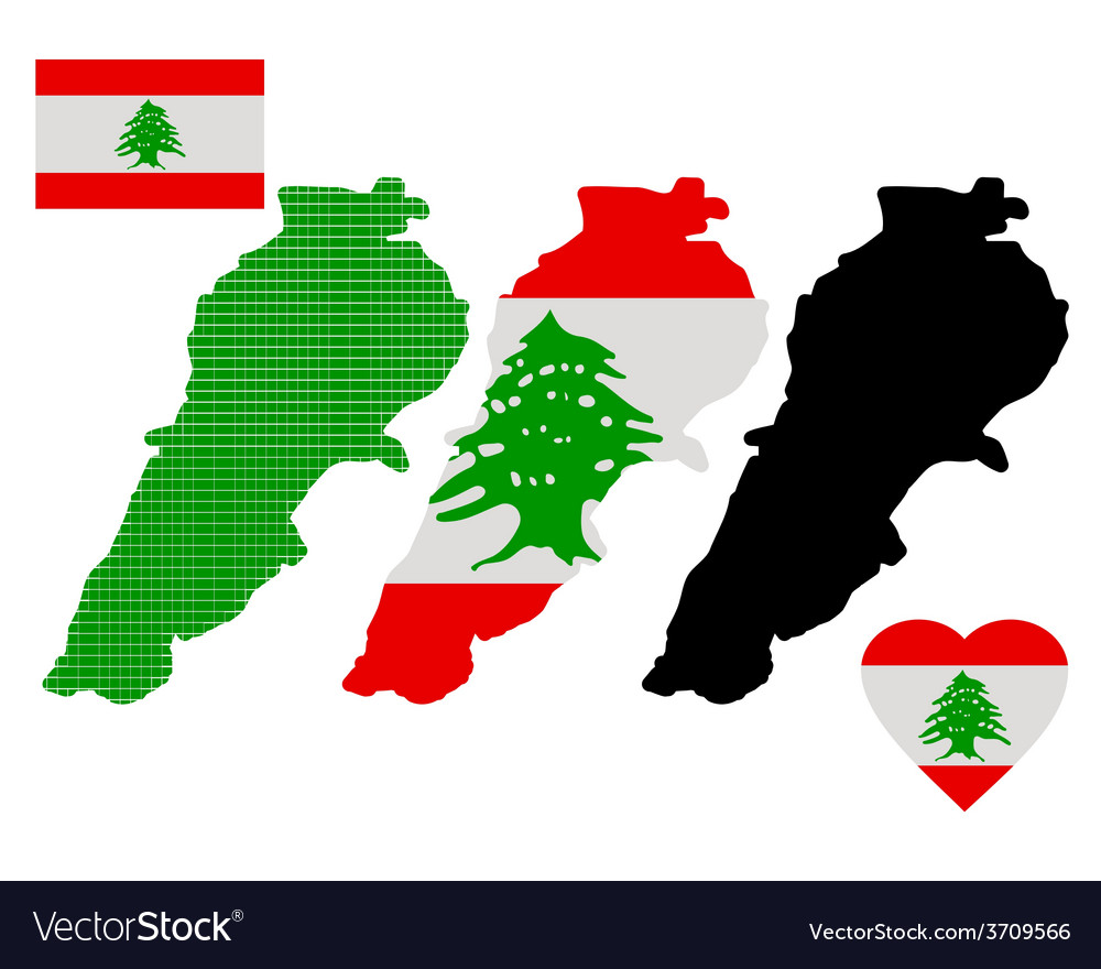Map of lebanon vector | Price: 1 Credit (USD $1)