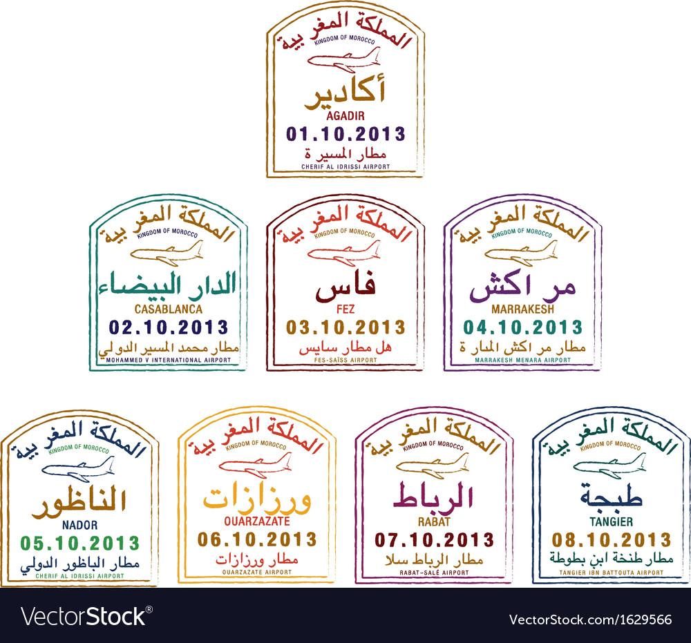 Passport stamps vector   Price: 1 Credit (USD $1)