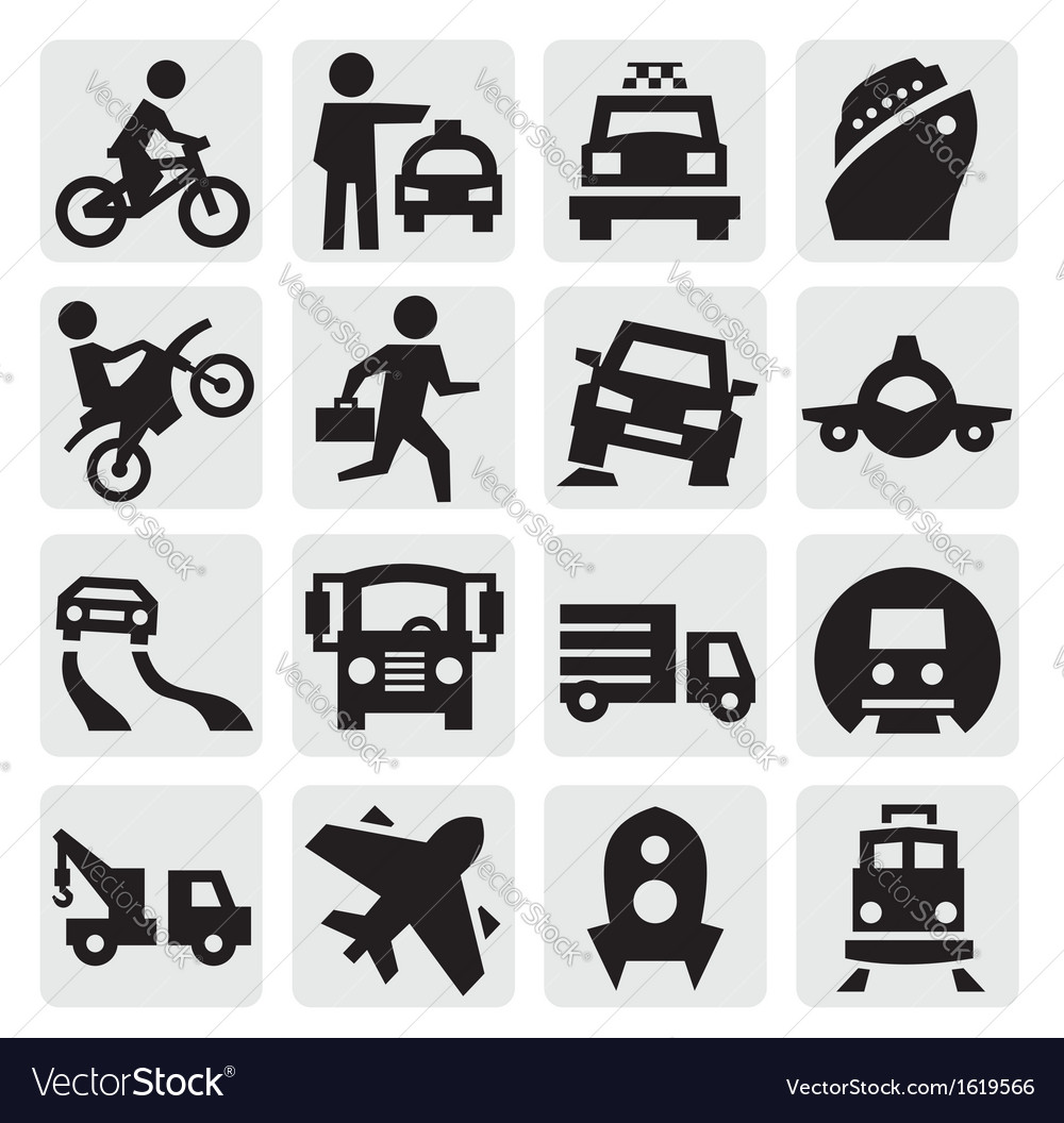 Transportation icon vector | Price: 1 Credit (USD $1)