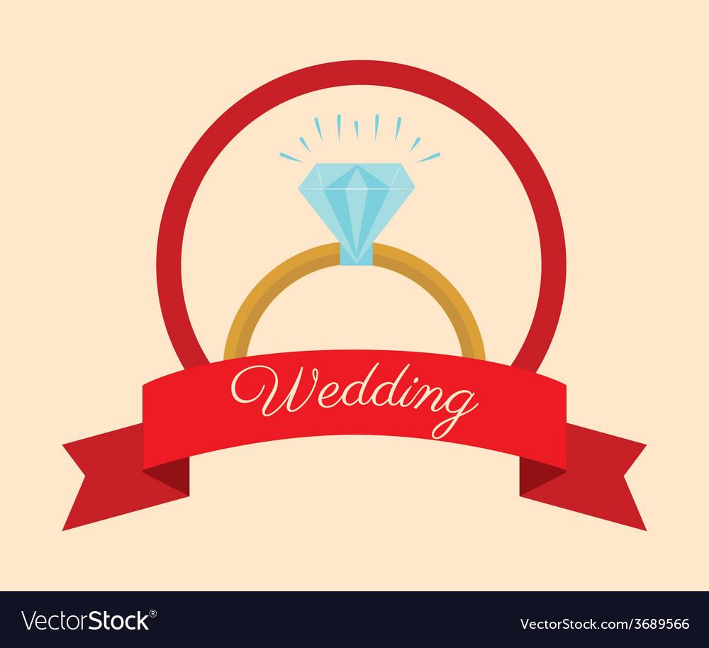 Wedding design over beige background vector | Price: 1 Credit (USD $1)
