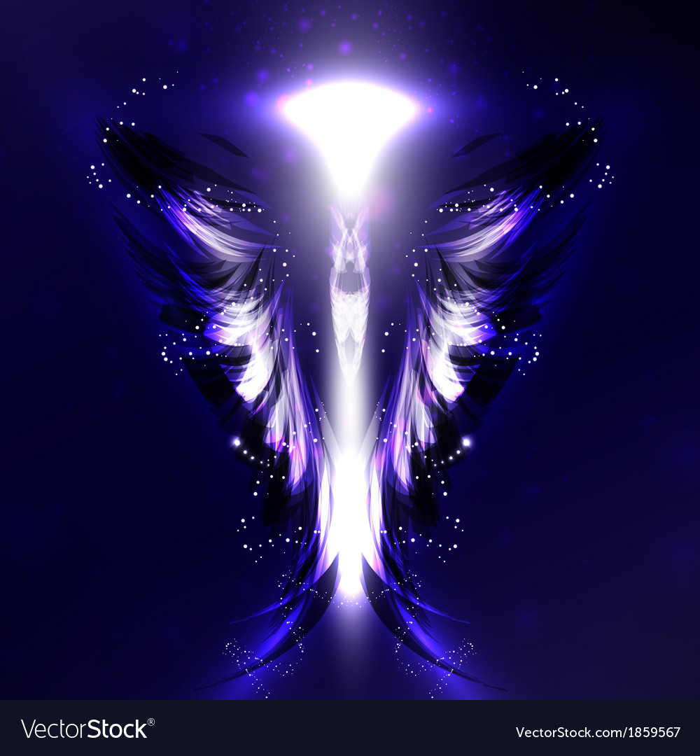 Angel futuristic background vector | Price: 1 Credit (USD $1)