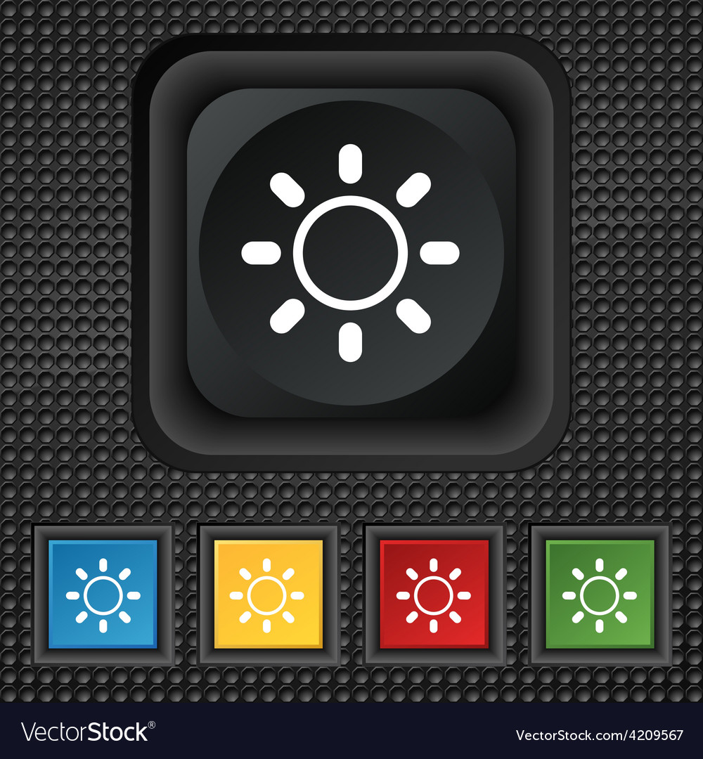 Brightness icon sign symbol squared colourful vector   Price: 1 Credit (USD $1)