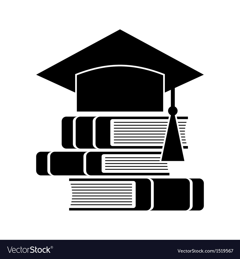 Celebrating graduating hat and books vector | Price: 1 Credit (USD $1)
