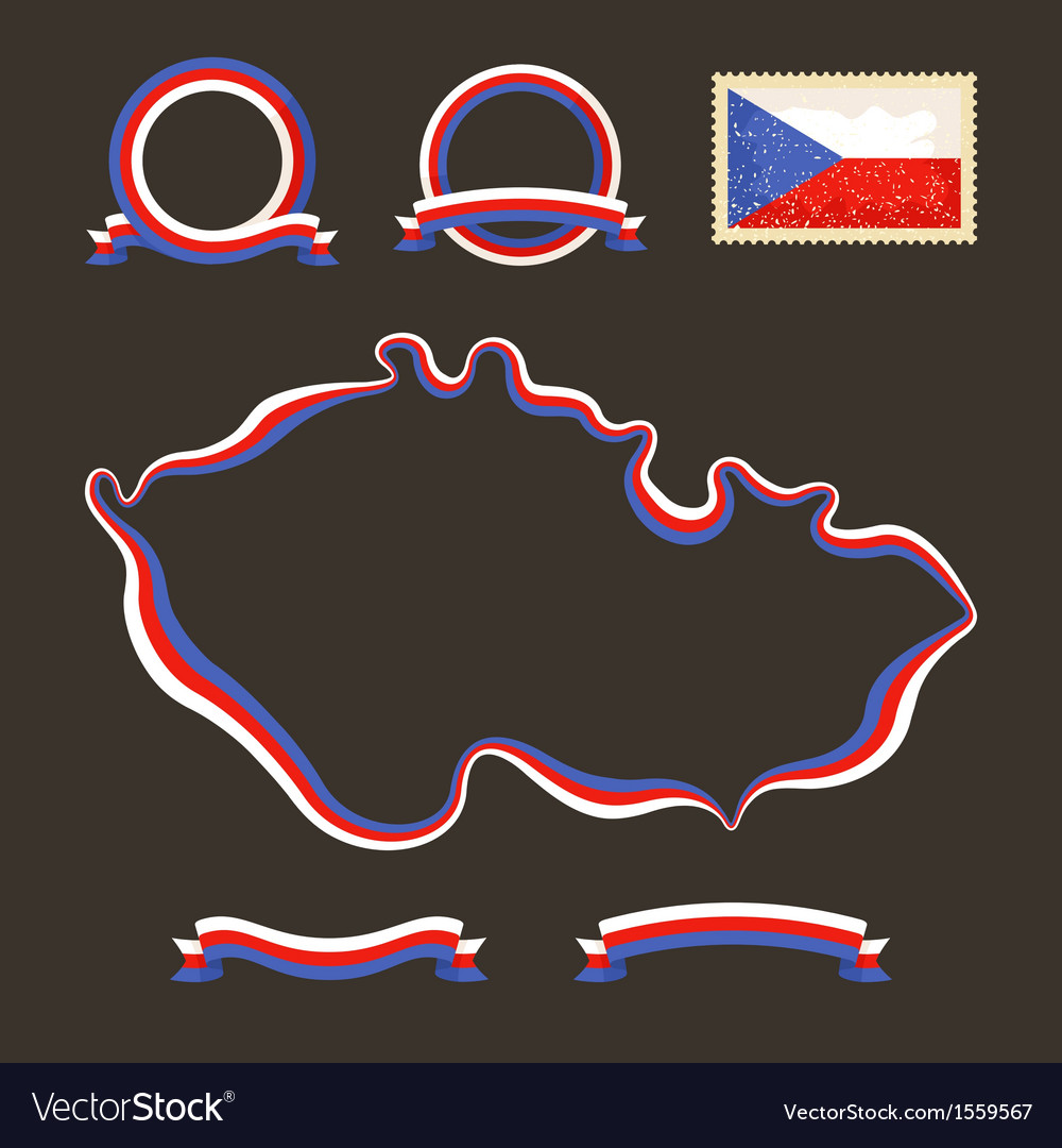 Colors of czech republic vector | Price: 1 Credit (USD $1)