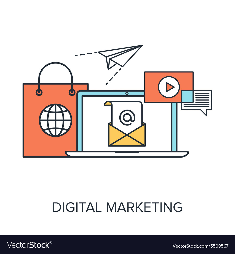 Digital marketing vector | Price: 1 Credit (USD $1)