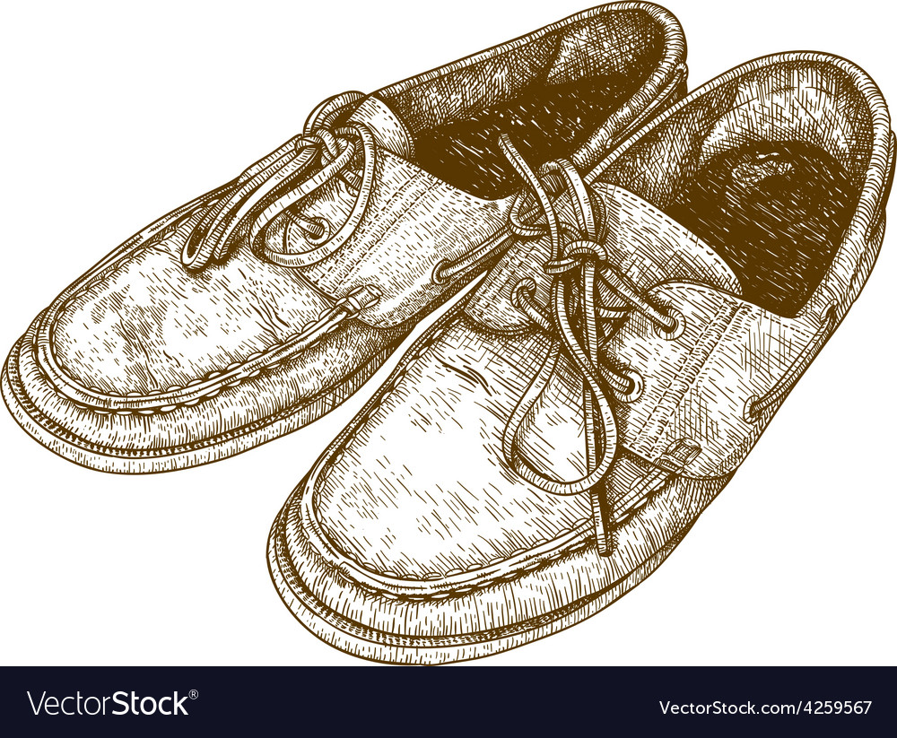 Engraving shoes vector | Price: 1 Credit (USD $1)